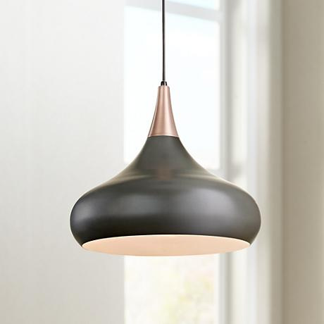 "Feiss Beso 18"" Wide Dark Bronze Pendant Light"