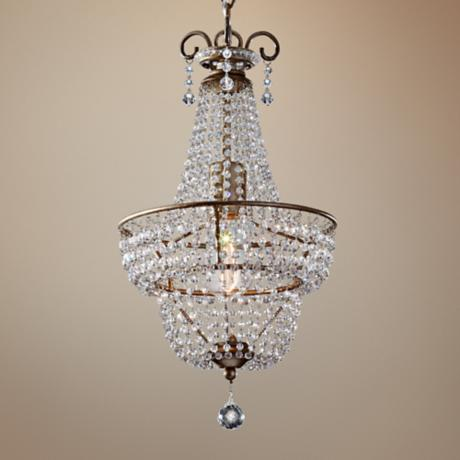 "Murray Feiss Dutchess 10"" Wide Silver Pendant Chandelier"
