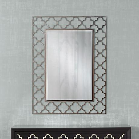 "Medrassa Tile Openwork 40"" High Rectangular Wall Mirror"