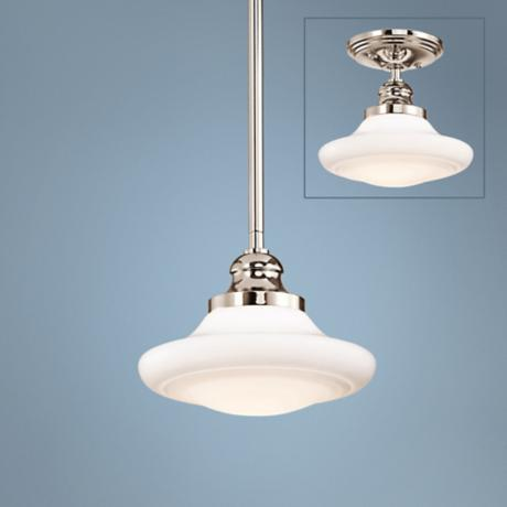 "Kichler Keller 8"" Wide Polished Nickel Pendant Light"