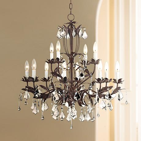 "Kathy Ireland Venezia 12 Light 28"" Wide Bronze Chandelier"