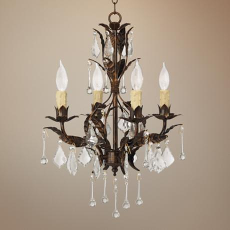 "Kathy Ireland Venezia 4-Light 16 1/2"" Wide Bronze Chandelier"