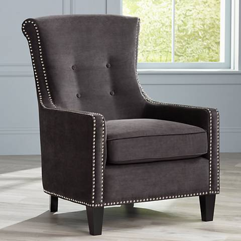 Chantelle Heather Ebony Black Accent Chair
