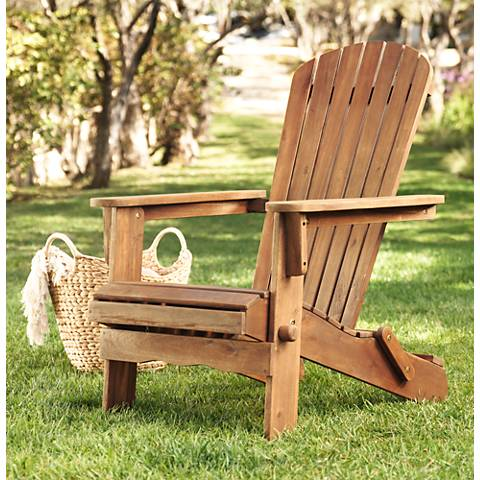 Monterey Dark Natural Folding Adirondack Chair