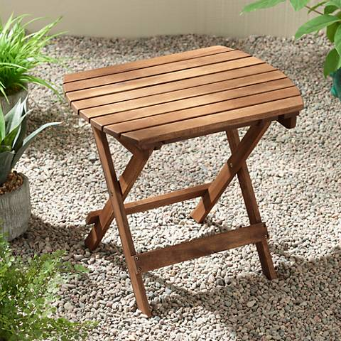 Monterey Natural Wood Outdoor Side Table