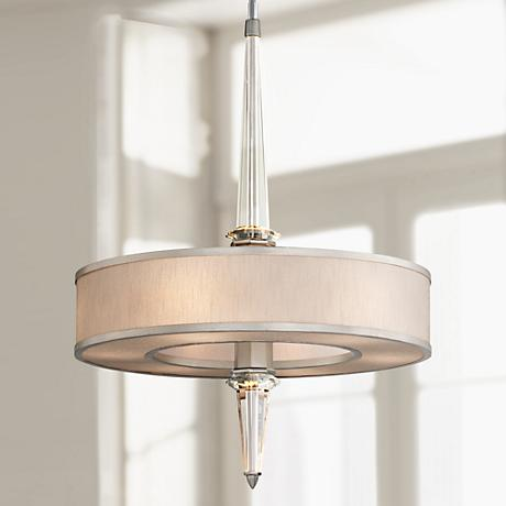 "Corbett Harlow 35 3/4"" High Crystal Column Pendant Light"