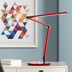 Gen 3 Z-Bar Mini Warm LED Red Desk Lamp with Touch Dimmer