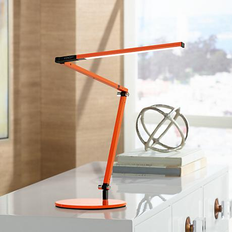 Koncept Gen 3 Z-Bar Mini Warm Light LED Desk Lamp Orange