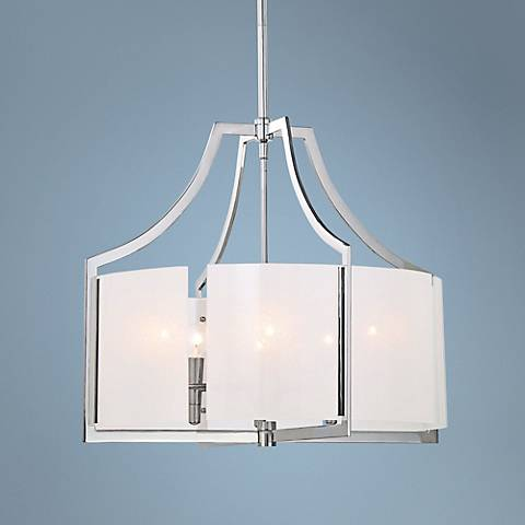 "Clarte 24"" Wide Iris Glass Chandelier"