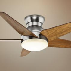 "52"" Casablanca Isotope Walnut Blades Nickel Ceiling Fan"