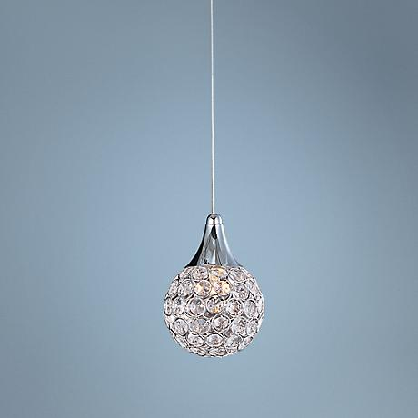 "ET2 Brilliant 7"" High Chrome Mini Pendant Light"