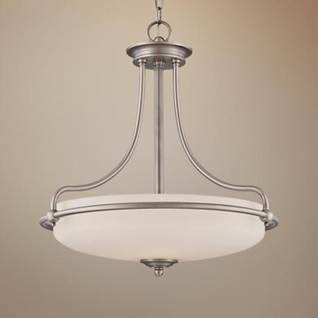 "Quoizel 4-Light Nickel 21"" Wide Pendant Light"