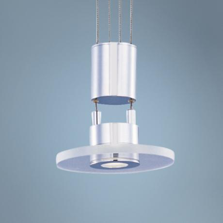 "ET2 Halo 6"" Wide Chrome and Acrylic Mini Pendant Light"