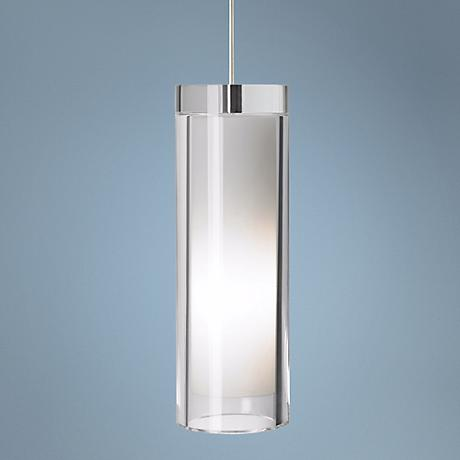 "Tech Lighting Sara Grande 10"" High Nickel Pendant Light"