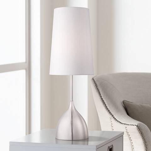 Chalice Modern Brushed Steel Table Lamp