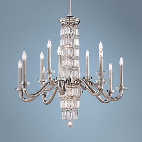 "Metropolitan Crysalyn Falls 18-Light 34 1/2"" W Chandelier"