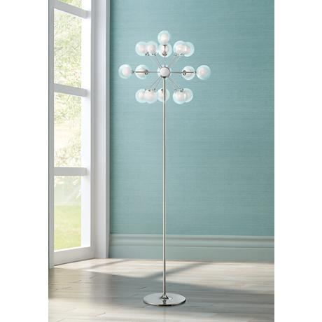 Possini Euro Design 16-Light Chandelier Floor Lamp