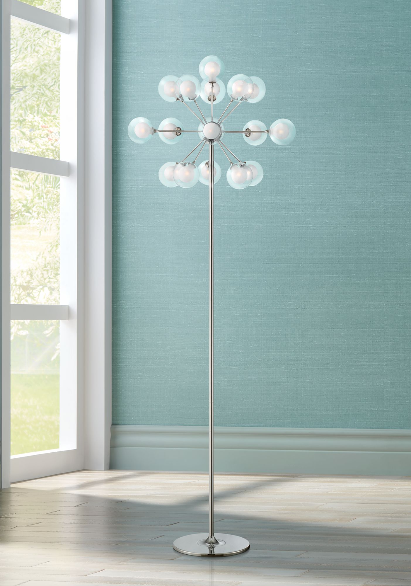 possini euro design 16light chandelier floor lamp