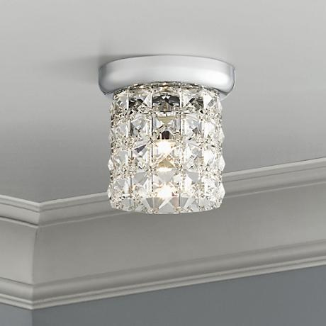 "Possini Euro Pantheon 4 3/4"" Wide Crystal Ceiling Light"