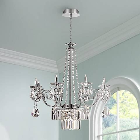 "Nobleton 27"" Wide Clear Crystal Chandelier"