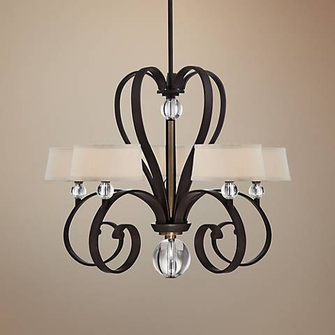 "Quoizel Uptown Madison Manor 32"" Wide Chandelier"