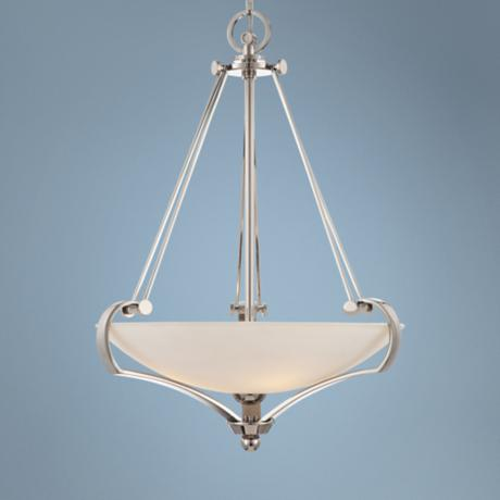 "Quoizel Uptown Sutton Place 4-Light 28 1/2""H Silver Pendant"