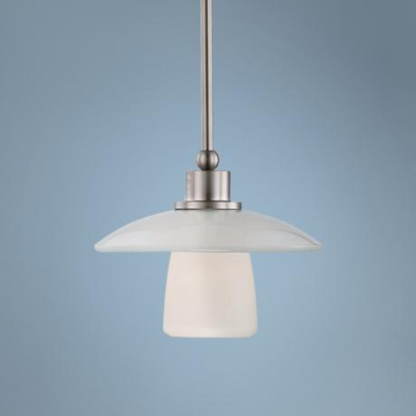 "Quoizel Uptown Tribeca Living 10""W Nickel Pendant Light"