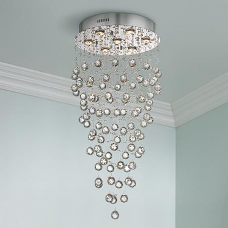 Aida 17 3 4 Quot Wide Pouring Crystal Ceiling Light X9149