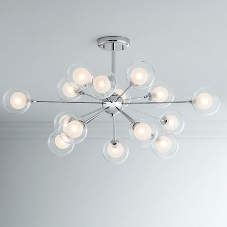 Possini Euro Design 15-Light Glass Balls Ceiling Light