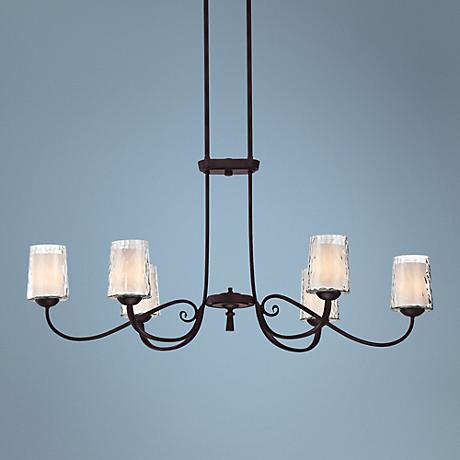 "Quoizel Adonis 19 1/2""W 6-Light Dark Cherry Chandelier"