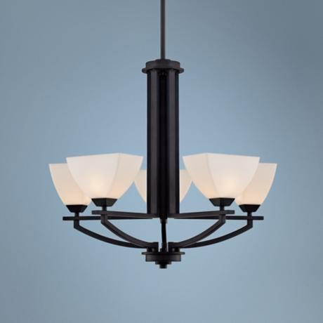 "Quoizel Ebony 5-Light 22""W Black Chandelier"