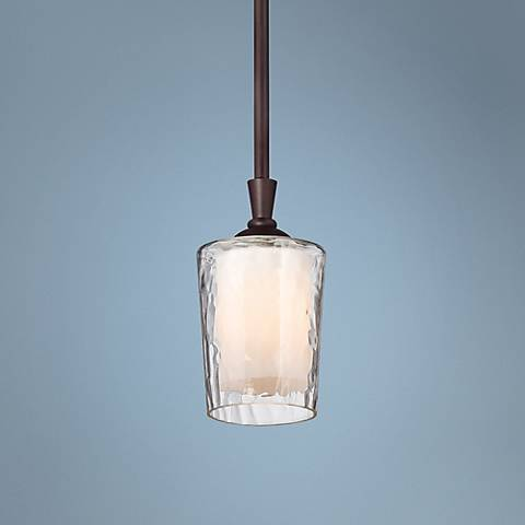 "Quoizel Adonis 4 1/2"" Wide Dark Cherry Mini Pendant Light"