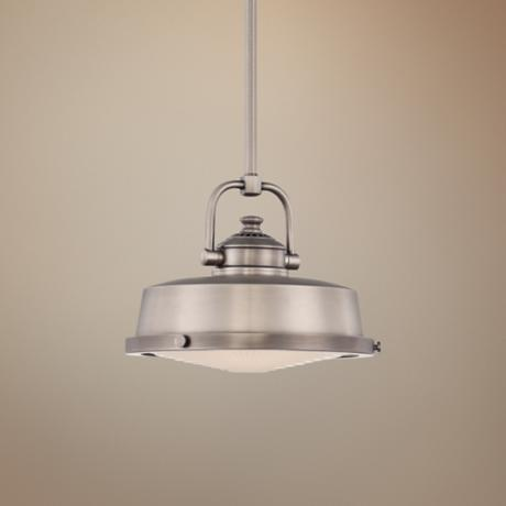 "Quoizel Danvers 9 1/2"" W Nickel Mini Pendant Light"