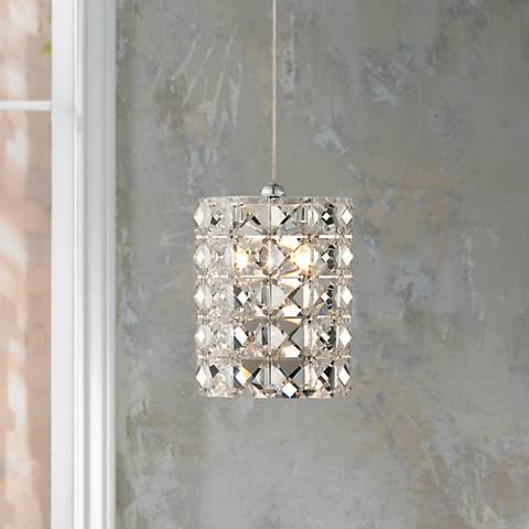 "Possini Euro Design Pantheon 4"" Wide Crystal Mini Pendant"
