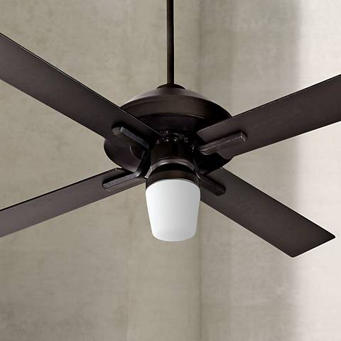 "52"" Craftmade South Beach Flat Black Outdoor Ceiling Fan"