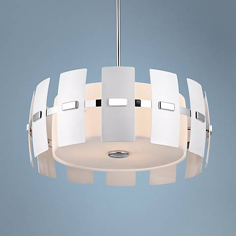 "Luna 21"" Wide 3-Light Chrome Pendant Light"