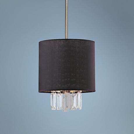 "Piccadilly 9"" Wide Chrome and Black Mini Pendant Light"