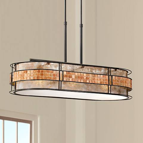 "Laguna 37"" Wide Oval Island Chandelier"