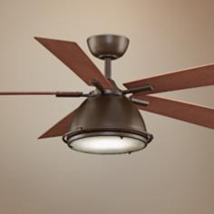 "52"" Breckenfield Oil-Rubbed Bronze Ceiling Fan"