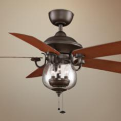 "52"" Fanimation Crestford Bronze Outdoor Ceiling Fan"