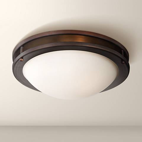 "Justin 13 1/4"" Wide Bronze Ceiling Light"