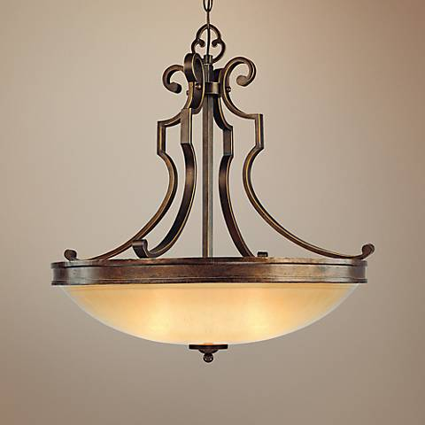 "Atterbury Collection 25"" Wide 3-Light Pendant Chandelier"