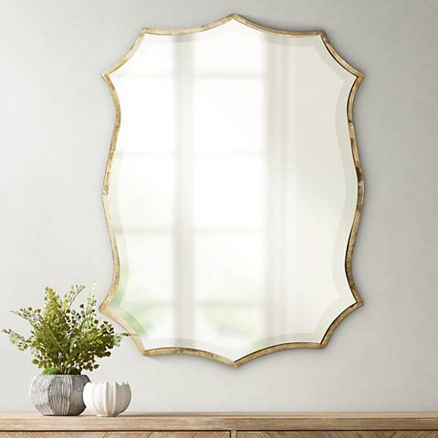 "Uttermost Migiana 30"" High Oxidized Nickel Wall Mirror"