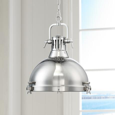 "Possini Euro Arlo 15 3/4"" Wide Chrome Pendant Light"