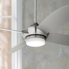 "52"" Casa Vieja™ Veridian Brushed Nickel Ceiling Fan"