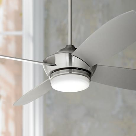 52 Quot Casa Vieja Veridian Brushed Nickel Ceiling Fan