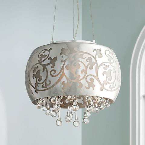 "Ballantine 15 3/4"" Wide Etched Glass Pendant Light"