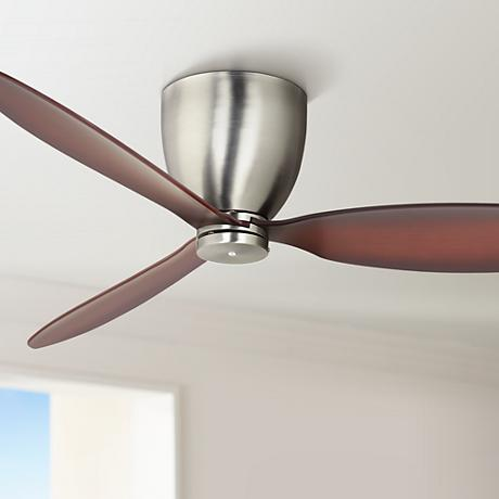 "52"" Casa Orbitor Brushed Steel Hugger Ceiling Fan"