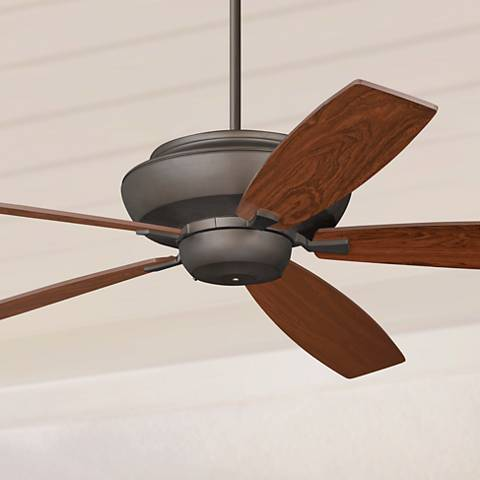 "70"" Casa Belle Grove™ Bronze Teak Blade Ceiling Fan"