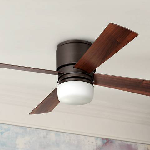 "52"" Casa Concourse™ Opal Glass - Bronze Hugger Ceiling Fan"